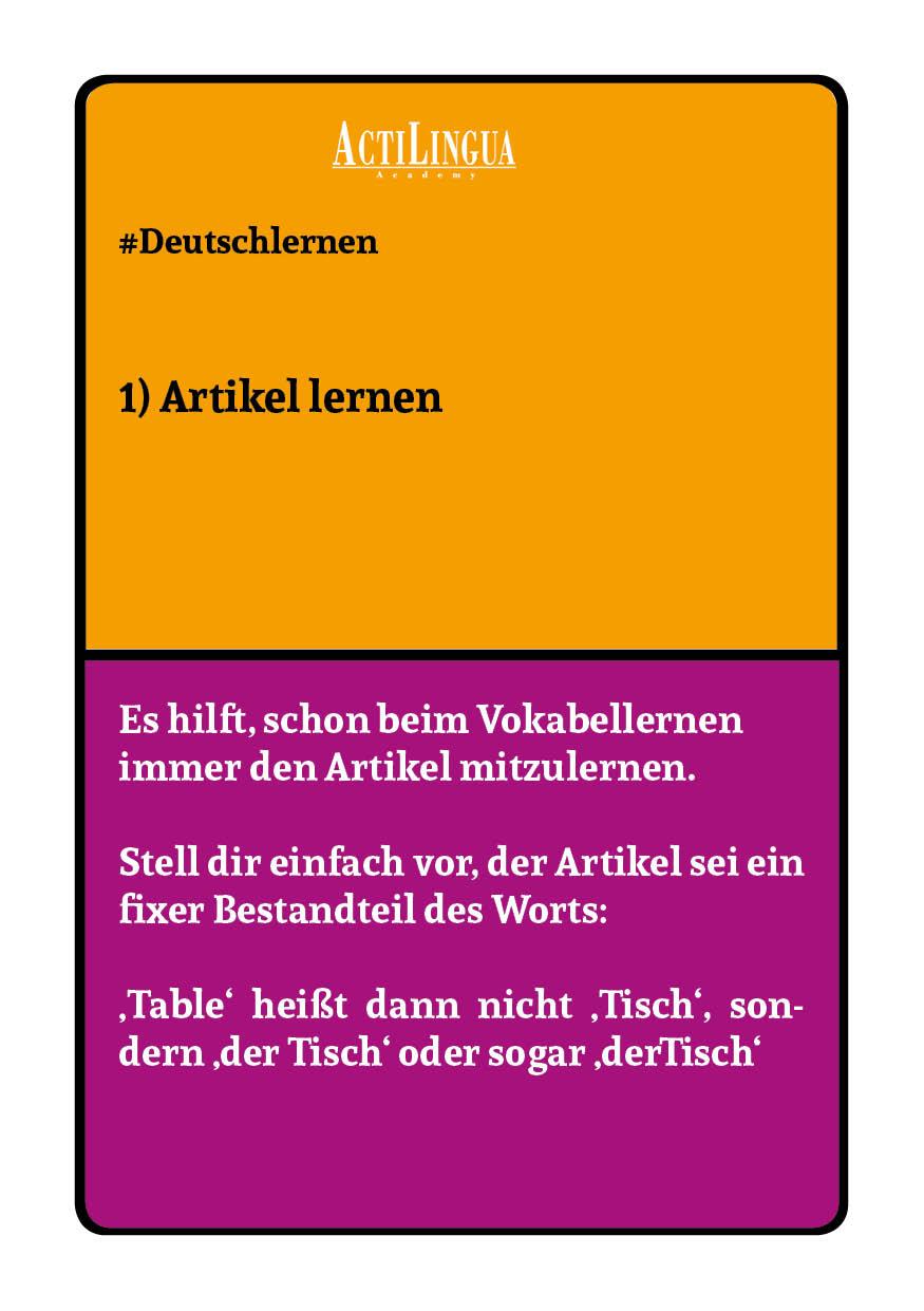 Lerntipps Deutsch Tipp 6 Allgemeine Lerntipps