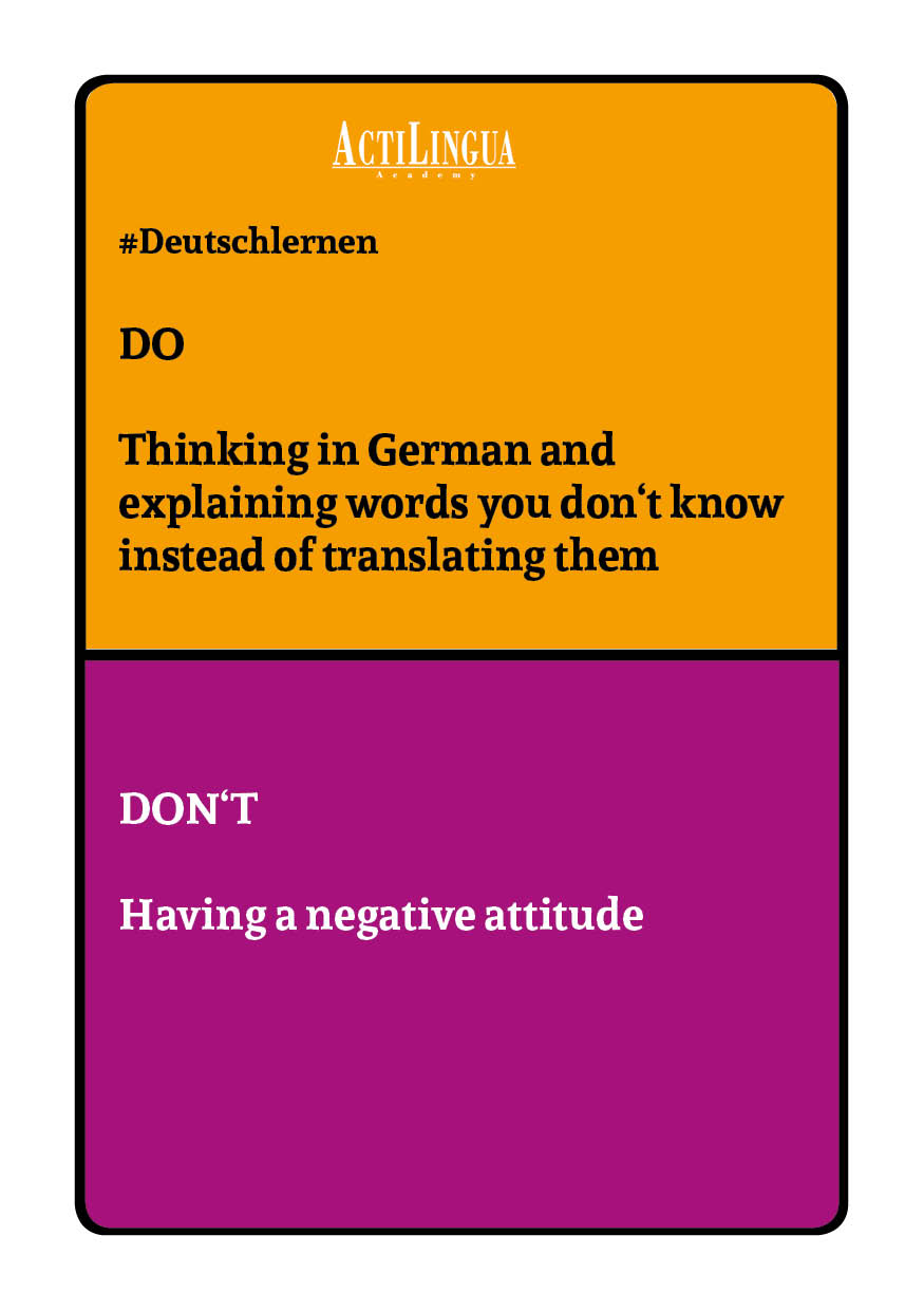 DO: Think in German