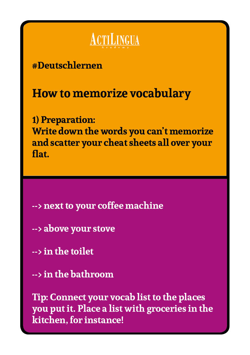 How to memorize vocabulary