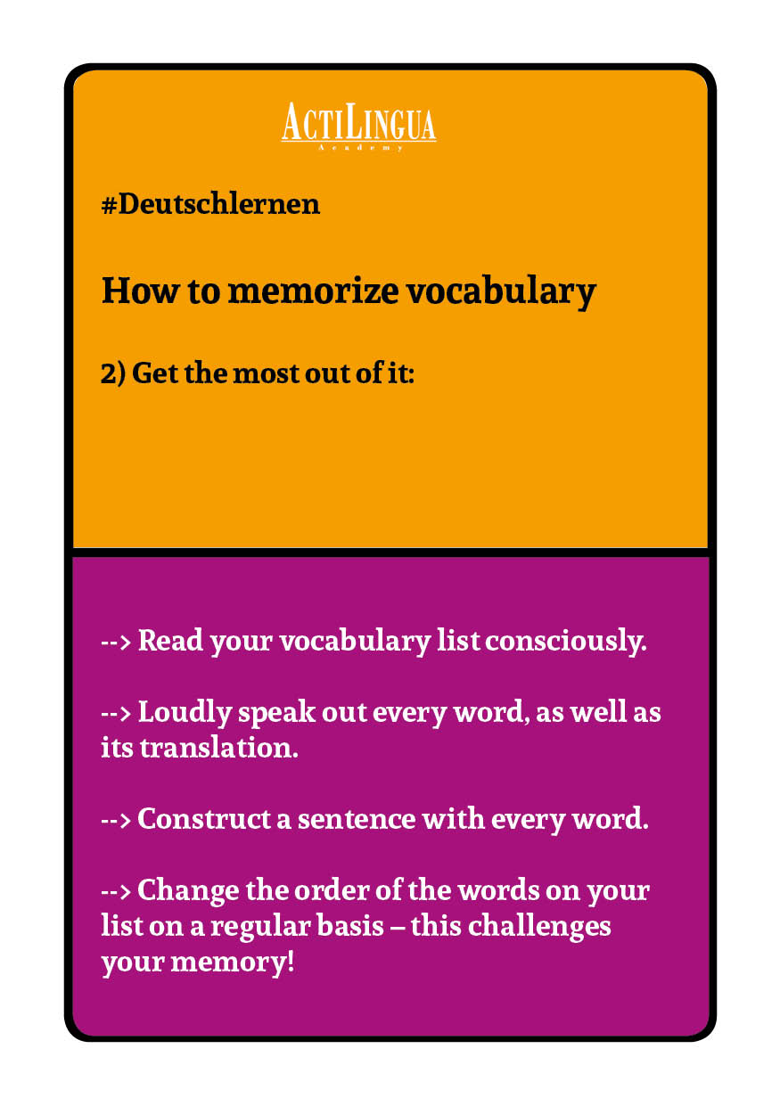 How to memorize vocabulary2