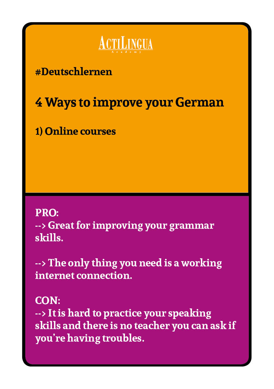 4 ways to improve your German: Online courses