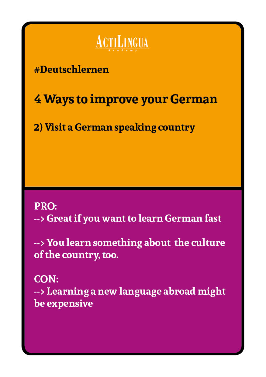 4 ways to improve your German: Travel