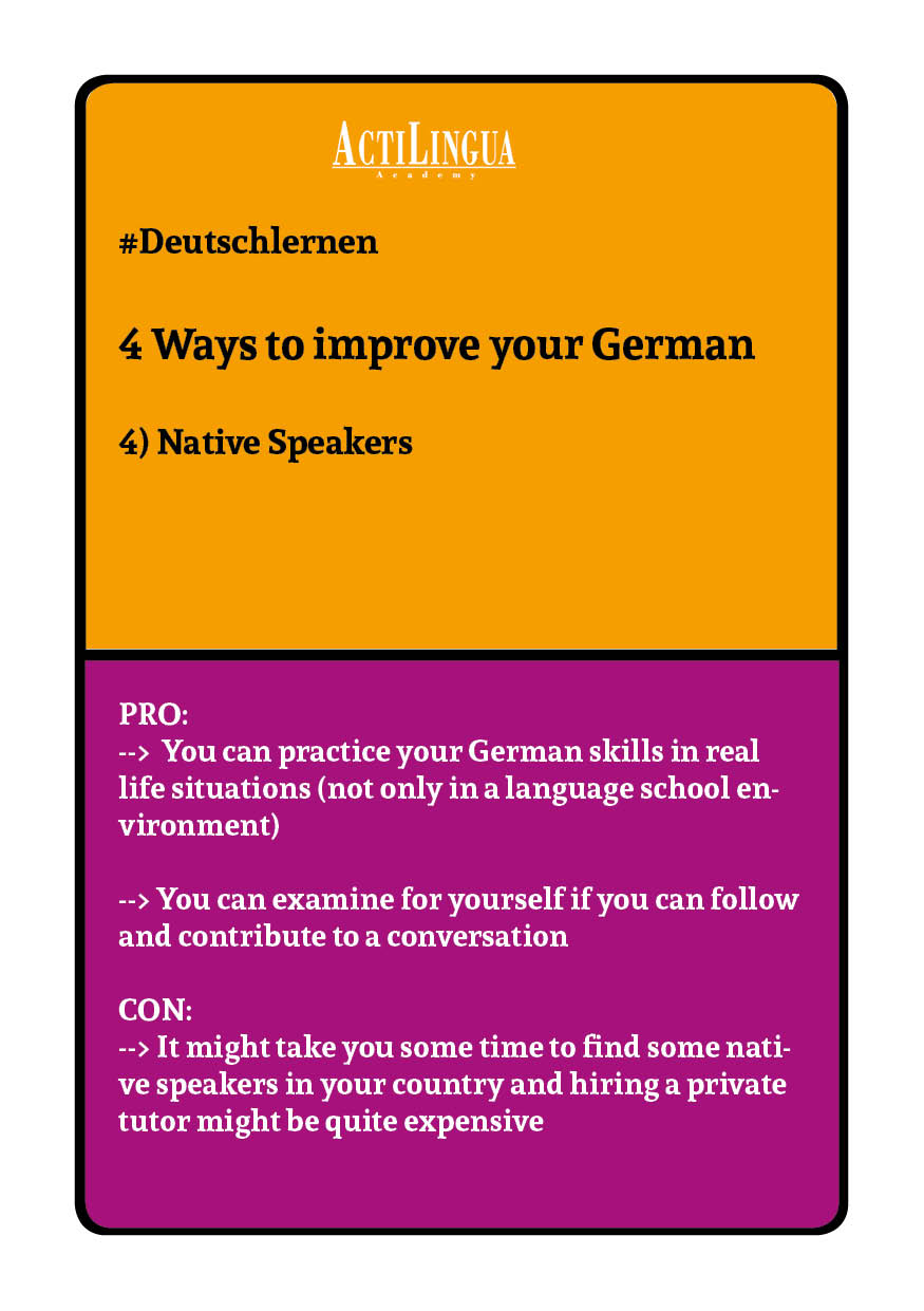 4 ways to improve your German: Native Speakers