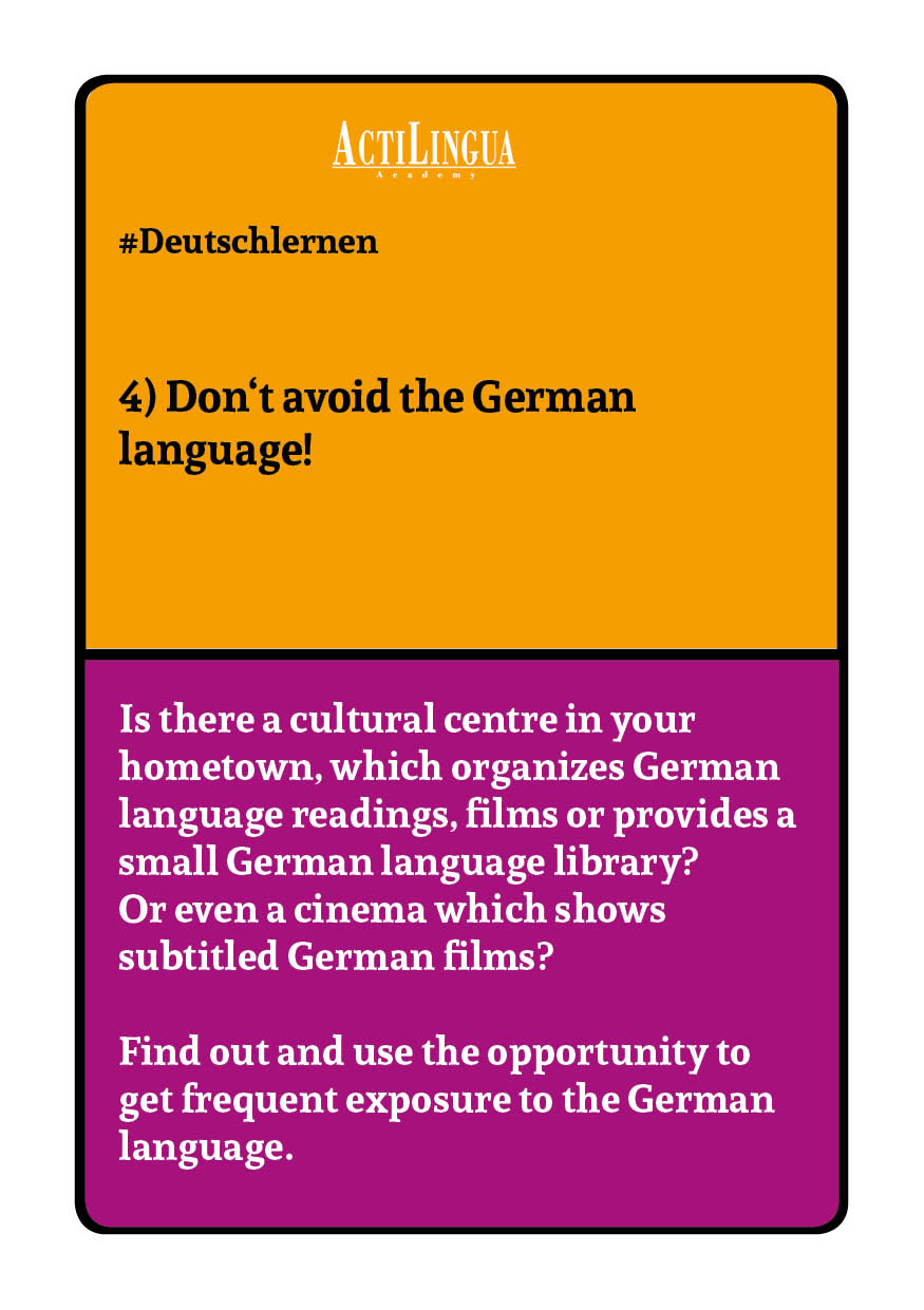 Don't avoid the German language